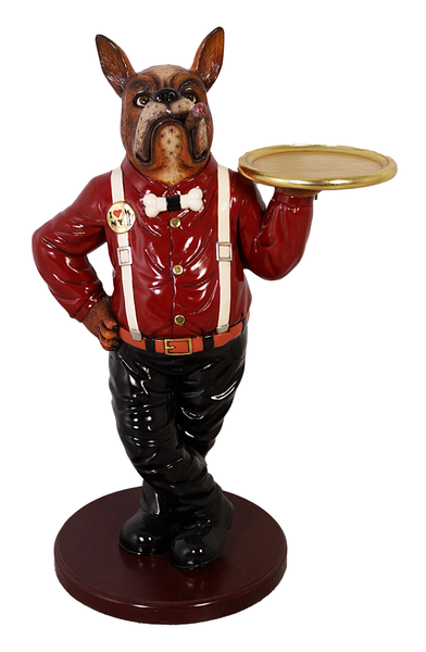 Cigar Boxer Butler Statue - LM Treasures Life Size Statues & Prop Rental
