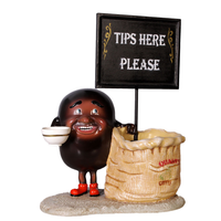 Coffee Bean Bag Restaurant Prop Decor Resin Statue - LM Treasures Life Size Statues & Prop Rental
