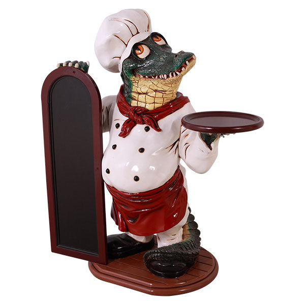 Crocodile Butler Life Size Statue - LM Treasures Life Size Statues & Prop Rental