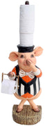 Animal Toilet Paper Pig Holder Prop Decor Resin Statue
