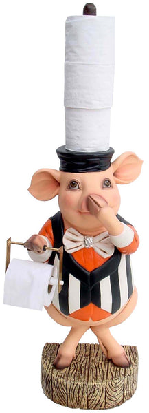Pig Toilet Paper Holder Statue - LM Treasures Life Size Statues & Prop Rental