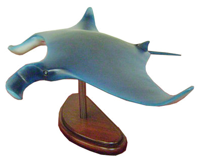 Manta Ray Fish on Base Sea Prop Resin Decor Statue - LM Treasures Life Size Statues & Prop Rental
