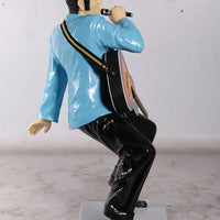 Singer Elvis In Blue Life Size Statue - LM Treasures Life Size Statues & Prop Rental