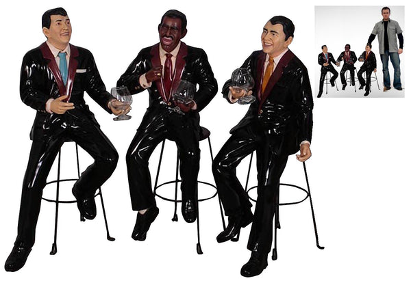 Rat Pack Singers Small Set Statue - LM Treasures Life Size Statues & Prop Rental