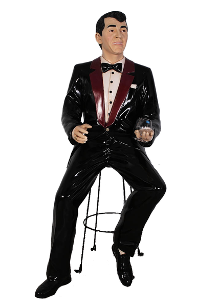 Rat Pack Singer Dean Life Size Statue - LM Treasures Life Size Statues & Prop Rental
