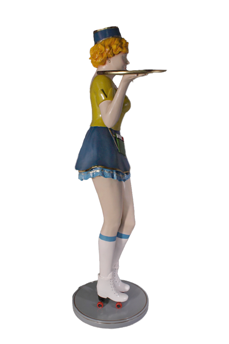 Roller Skater Waitress Life Size Statue - LM Treasures Life Size Statues & Prop Rental