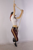 Hanging Lady Pirate Life Size Statue - LM Treasures