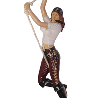 Hanging Lady Pirate Life Size Statue - LM Treasures Life Size Statues & Prop Rental