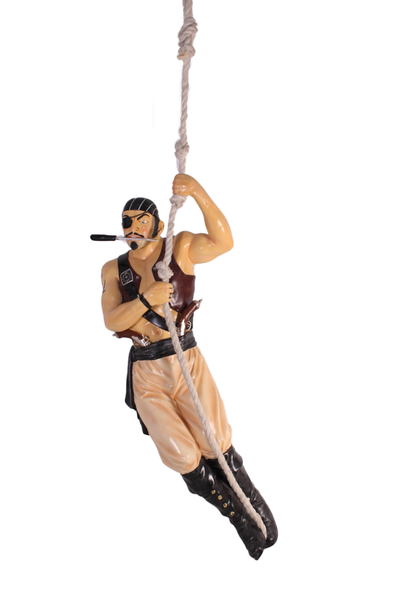 Pirate Hanging Life Size Statue - LM Treasures Life Size Statues & Prop Rental
