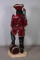 Pirate Captain Morgan With Barrel Life Size Statue - LM Treasures