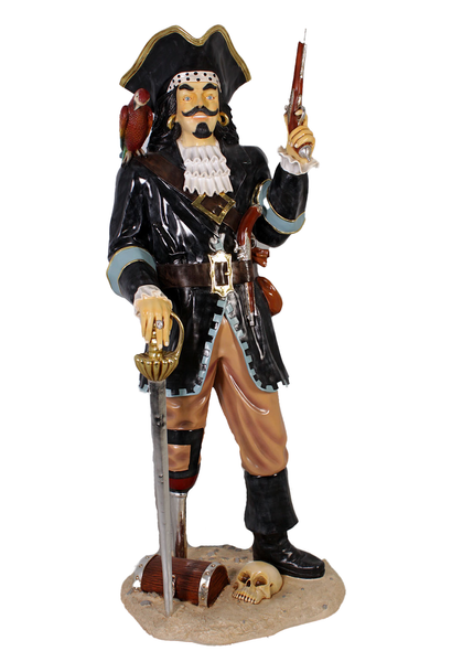 Pirate Captain Morgan Life Size Statue - LM Treasures Life Size Statues & Prop Rental