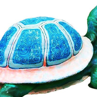 Giant Colorful Turtle Over Sized Statue - LM Treasures Life Size Statues & Prop Rental