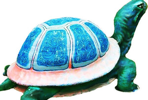 Giant Colorful Turtle Over Sized Statue Pre-owned - LM Treasures