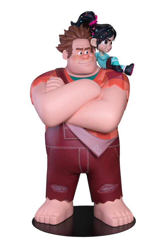 Disney Wreck It Ralph & Vanellope Life Size Statue - LM Treasures Life Size Statues & Prop Rental