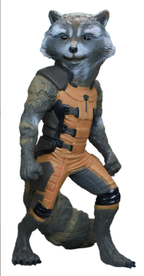 Guardians of the Galaxy Rocket Raccoon Life Size Foam Statue - LM Treasures Life Size Statues & Prop Rental