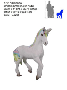 Unicorn Baby Foal Standing Mythical Prop Resin Horse Statue - LM Treasures Life Size Statues & Prop Rental