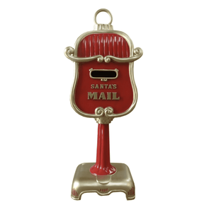 Mailbox Santa (Red/Gold) - LM Treasures Life Size Statues & Prop Rental