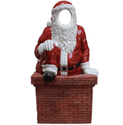 Photo Op Santa In Chimny - LM Treasures Life Size Statues & Prop Rental
