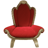 Chair Santa (Gold/Red) 2 Large - LM Treasures Life Size Statues & Prop Rental