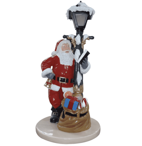Light Post Santa Bell And Sack With Base - LM Treasures Life Size Statues & Prop Rental