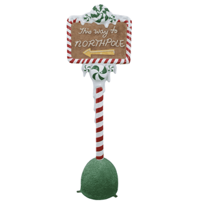 Sign North Pole Post - LM Treasures Life Size Statues & Prop Rental