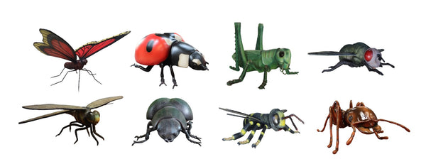 Insect Set of 8 Over Sized Statue - LM Treasures Life Size Statues & Prop Rental