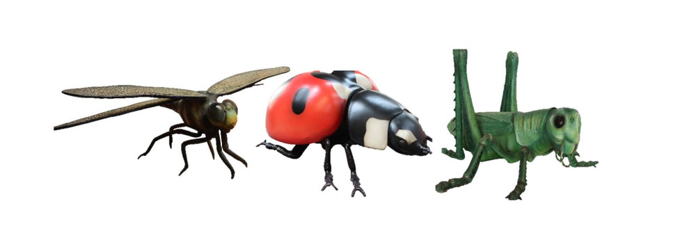Insect Set of 3A Over Sized Statue - LM Treasures