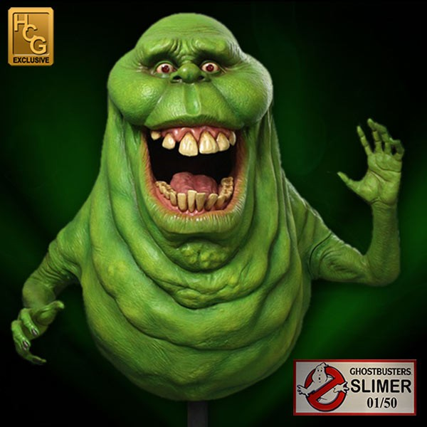 HCG Ghostbusters Exclusive Slimer Life Size Statue #30/50 - LM Treasures Life Size Statues & Prop Rental