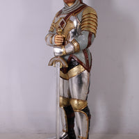 Knight Warrior Life Size Mythical Prop Decor Resin Statue - LM Treasures Life Size Statues & Prop Rental