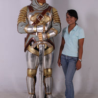 Knight Warrior Life Size Statue - LM Treasures Life Size Statues & Prop Rental