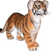 Tiger Bengal Cub Standing Animal Prop Life Size Decor Resin Statue - LM Treasures Life Size Statues & Prop Rental