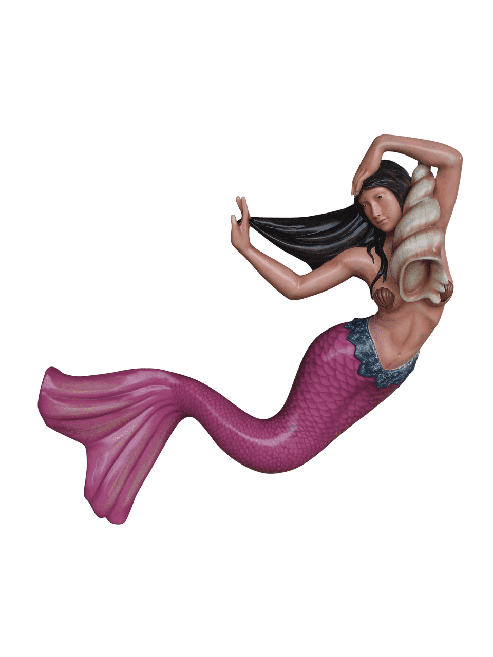 Pink Mermaid Life Size Statue - LM Treasures Life Size Statues & Prop Rental