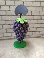 Bunch of Purple Grapes Over Size Statue Menu Board - LM Treasures