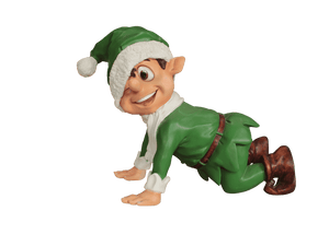 Elf Crawling (Green) - LM Treasures Life Size Statues & Prop Rental