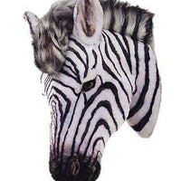 Zebra Head Safari Prop Life Size Decor Resin Statue - LM Treasures Life Size Statues & Prop Rental