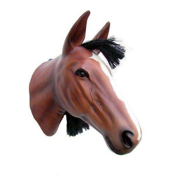 Horse Head Statue Display Prop Farm Animal - LM Treasures Life Size Statues & Prop Rental
