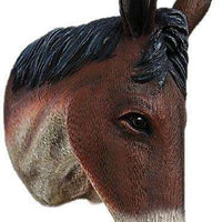 Donkey Mule Brown Head Wall Decor Life Size Prop - LM Treasures Life Size Statues & Prop Rental