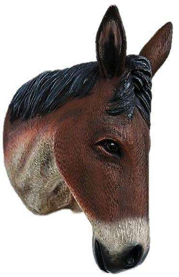 Brown Donkey Head Life Size Statue - LM Treasures Life Size Statues & Prop Rental
