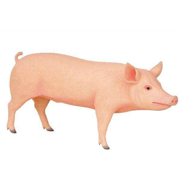 Pig Standing Farm Prop Life Size Decor Resin Statue - LM Treasures Life Size Statues & Prop Rental