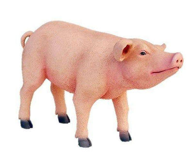 Pig Baby # 1 Standing Farm Prop Life Size Decor Resin Statue - LM Treasures Life Size Statues & Prop Rental