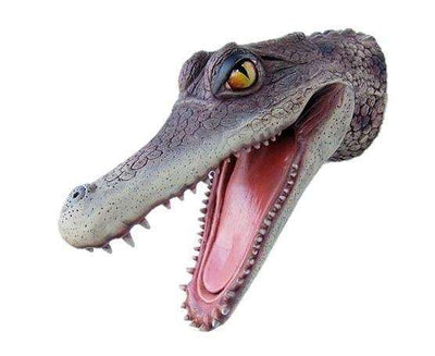 Alligator Head Reptile Prop Life Size Decor Resin Statue- LM Treasures