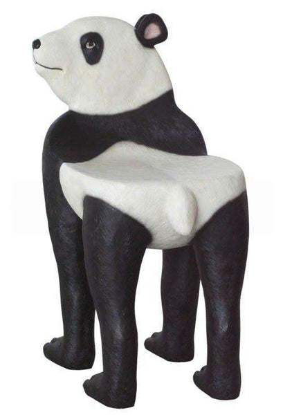 Panda Bear Chair Animal Prop Life Size Decor Resin Statue - LM Treasures Life Size Statues & Prop Rental