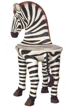 Zebra Chair Safari Prop Decor Resin Statue- LM Treasures