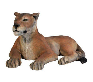 Lion Lioness Resting Safari Prop Life Size Resin Statue