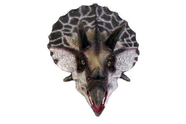 Dinosaur Triceratops Head # 2 Prehistoric Prop Resin Statue - LM Treasures Life Size Statues & Prop Rental