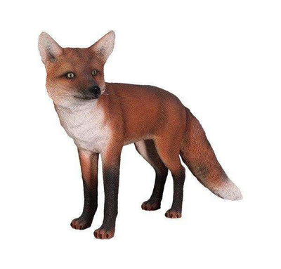 Dog Wild Fox Red Animal Prop Life Size Decor Resin Statue- LM Treasures