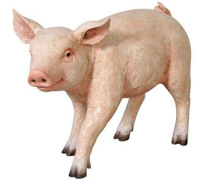 Pig Baby # 2 Standing Farm Prop Life Size Decor Resin Statue - LM Treasures Life Size Statues & Prop Rental
