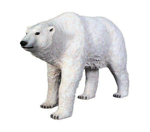 Bear Polar Walking Arctic Prop Life Size Decor Resin Statue- LM Treasures
