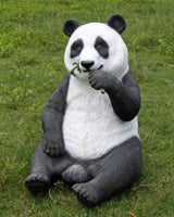 Panda Bear Eating Animal Prop Life Size Decor Resin Statue - LM Treasures Life Size Statues & Prop Rental