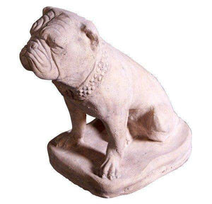 Dog Bulldog Stone Animal Prop Life Size Deecor  Resin Statue - LM Treasures Life Size Statues & Prop Rental